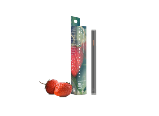 Stanley Brothers 100mg CBD Vape Pen, Strawberry by Charlotte's Web Founders
